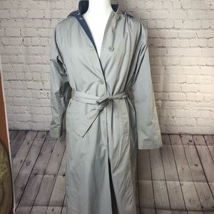 London Towne trench coat with hood and liner